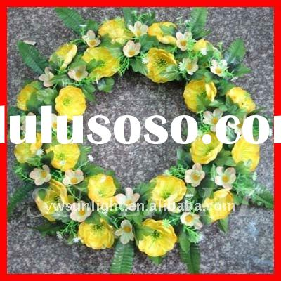 Artificial flower wreath in different shapes,funeral wreath