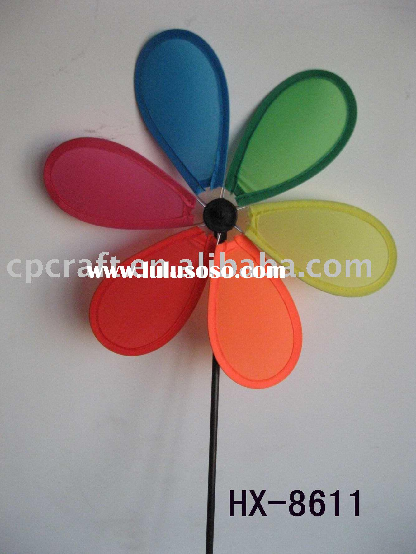 Craft art garden outdoor decoration wind spinner pinwheel nylon windmill cloth wind wheel