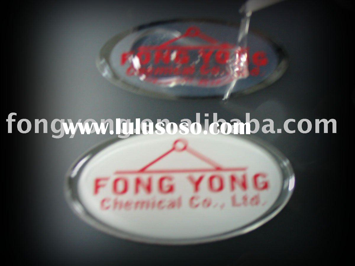 Doming resin of epoxy adhesive for water clear 3D doming of sticker, badge, lapel...