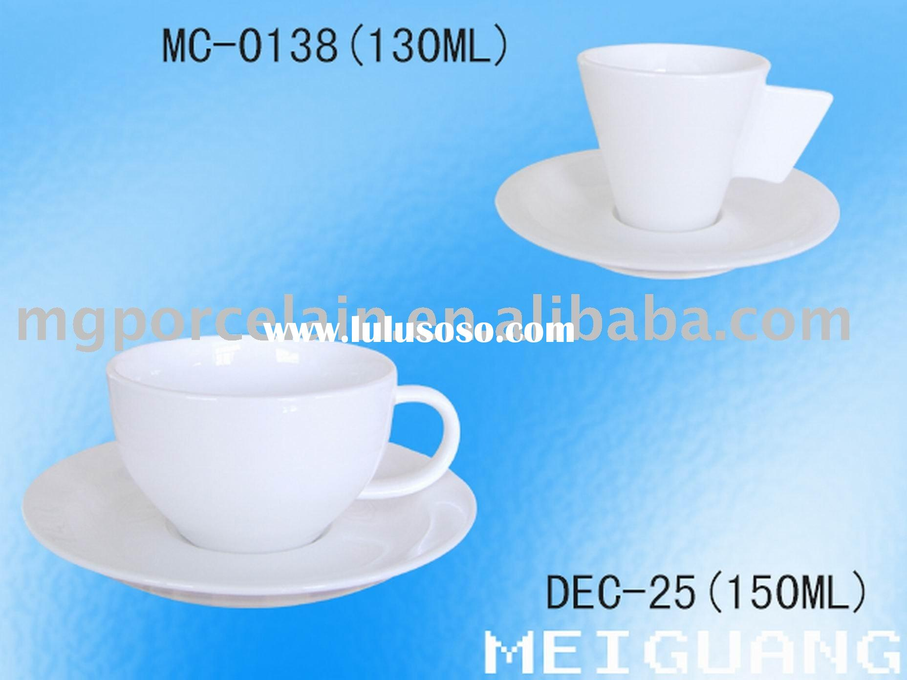 Durable fine porcelain coffee cup&saucer