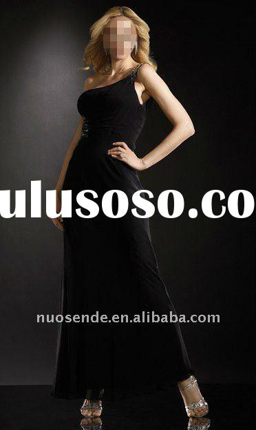 Free Shipping Black White Knee Length Evening Dresses Black With Champagne Accent Evening Dresses Bl