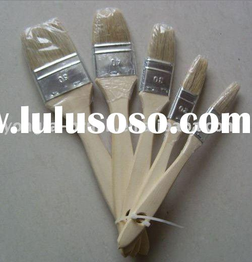 Good quality wooden handle natural bristle paint brush