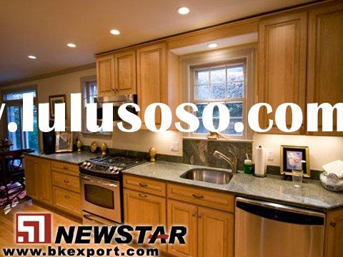 Kitchen Cabinets with Granite Countertops and Stainless Steel Sinks