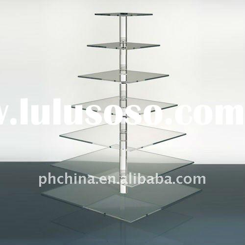 PE-193 7 Tier Square Clear Acrylic Cupcake Stand