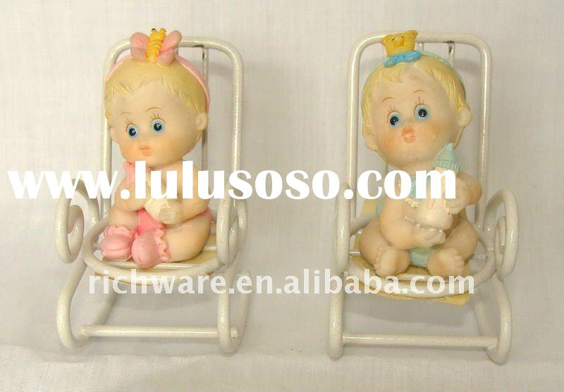 Polyresin Baby Souvenir On Rocking Chair