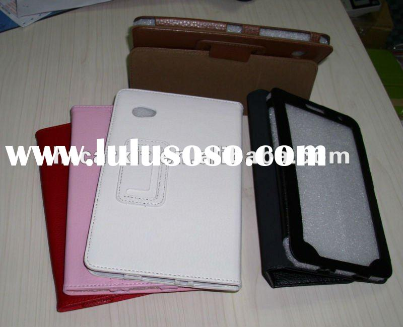 Slim Leather Case with Stand For Samsung Galaxy Tab Plus7.0 p6200,P6210