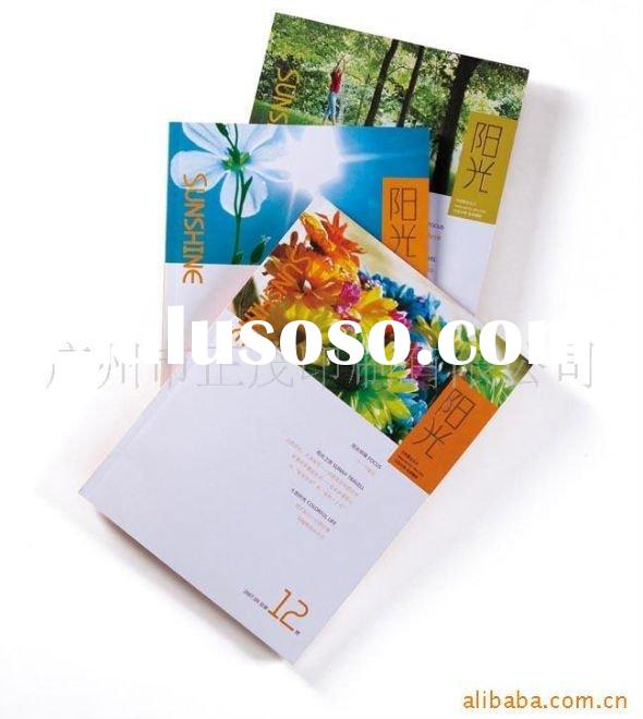 Top quality&fashion brochure printing art paper 4C+4C