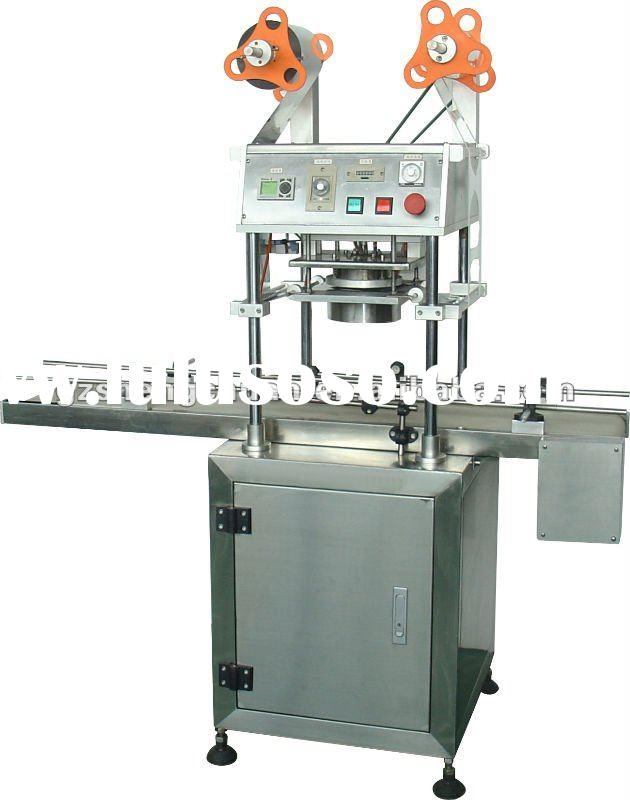 Turn-around automatic bubble tea cup sealing machine