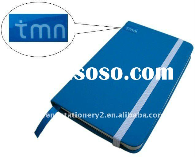 a4 a5 a6 pu cover moles notebook with rubber logo for promotion