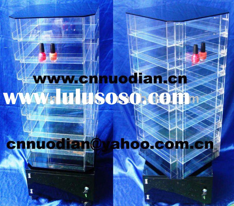 acrylic revolving floor display stand for nail polish bottles