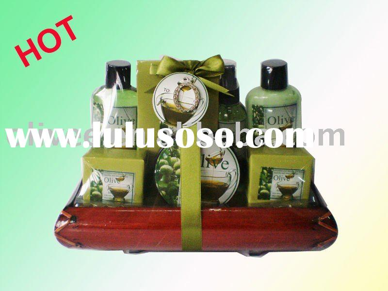 christmas gift bath gift set shower gel/BAMBOO DISH/PERDONAL CARE
