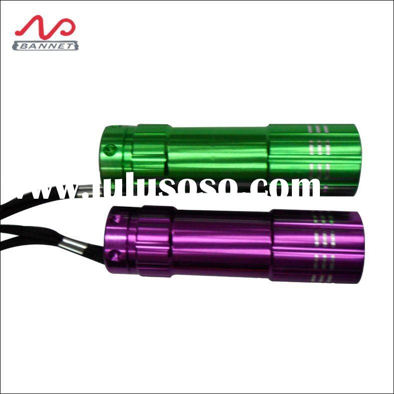 colorful battery powered mini aluminum led flashlight torch