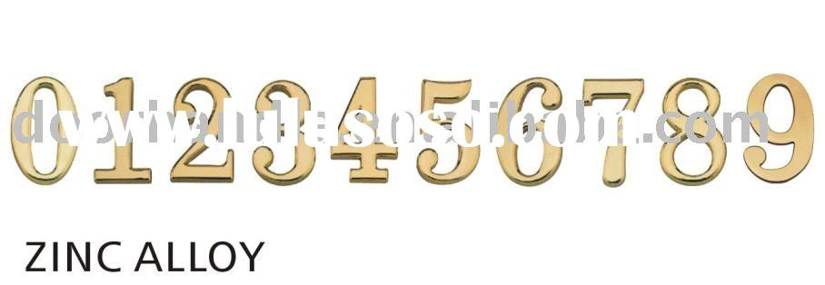 furniture hardware, house number, brass door number, metal number, decorative hardware
