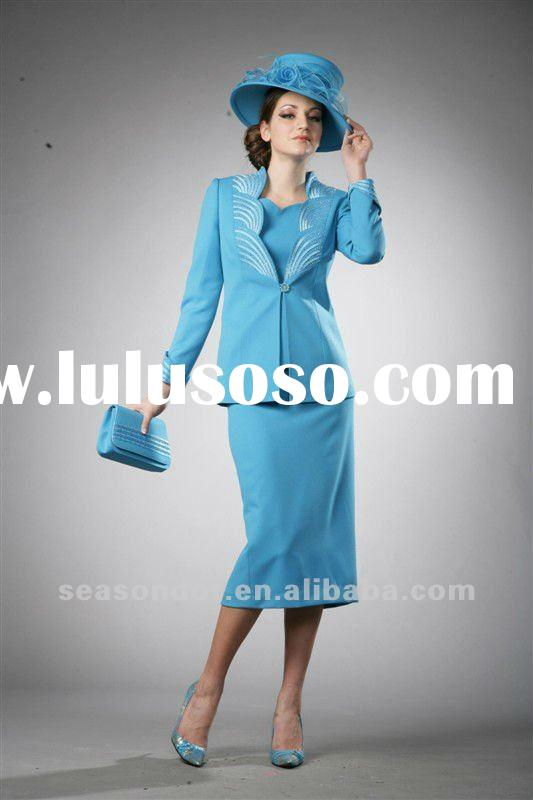 ladies suits factory,embroidered women Church Suits