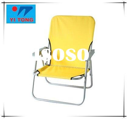 low seat folding beach chair,camping beach chair with strip