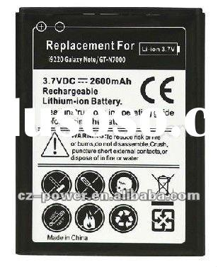 real capacity 2200mAh Mobile Battery for Samsung Galaxy note i9220