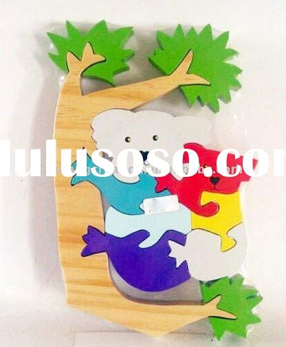wooden blank jigsaw puzzle toys for kids