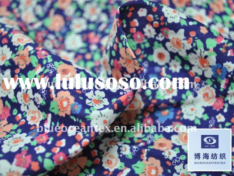 100% Cotton Cambric Fabric Printed Cotton Voile 60x60/90x88 70GSM 2OZ Bohemia Style,Factory In Huzho