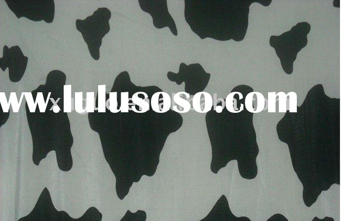 100%polyester Cow printed double sided fleece blanket
