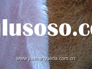 100% polyester knitted plush, faux fur fabric