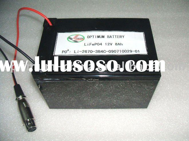 12V-8Ah lithium ion batteries for home electric application