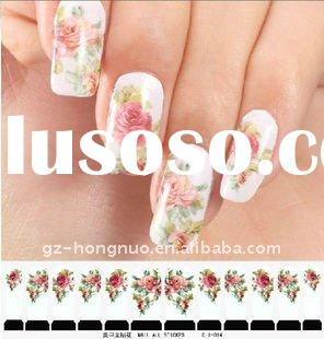 12pcs Nail Art Water Decal Sticker Full cover tips with file HN760