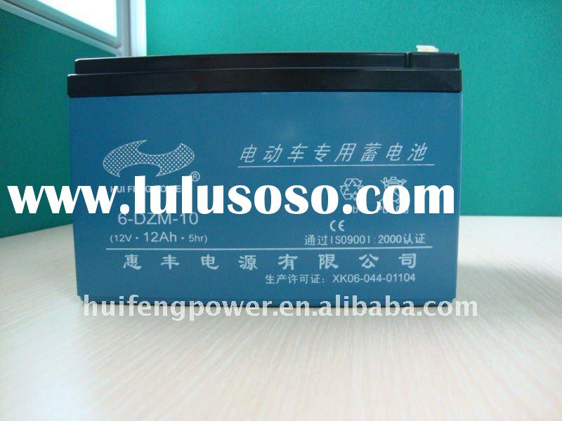 12v 10ah sealed valve-control rechargeable lead acid battery for electric bicycles and tricycles