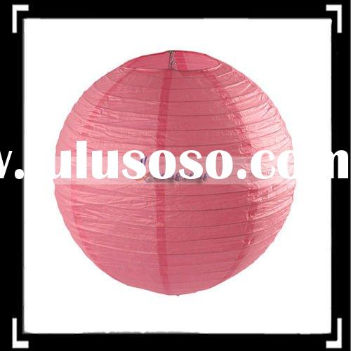 "14"" Pink Handmade Paper Lantern Wedding Party Decoration"