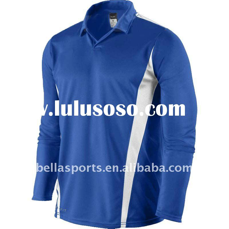 2011 Comfortbale fit sports/soccer jersey long sleeve with breathable fabric