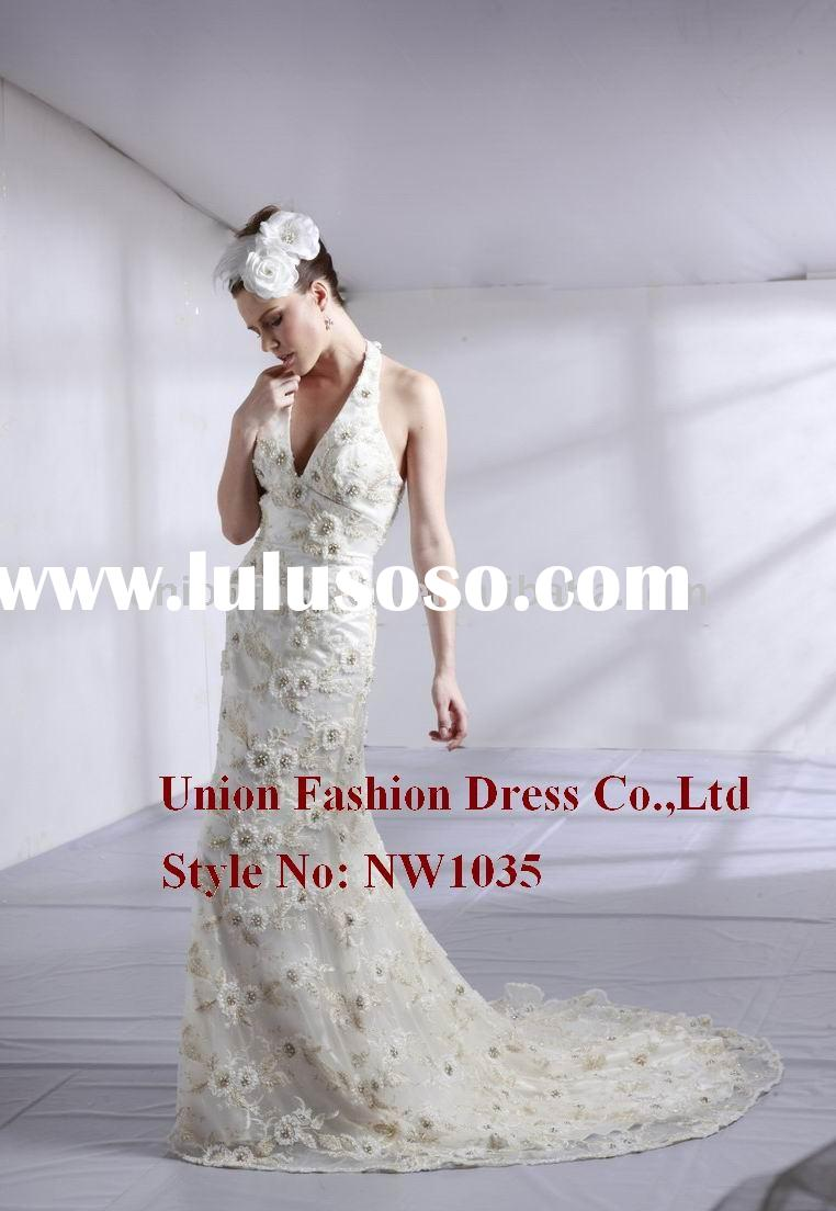 2011 hottest wedding dress & gown with lace and swarovski NW1035