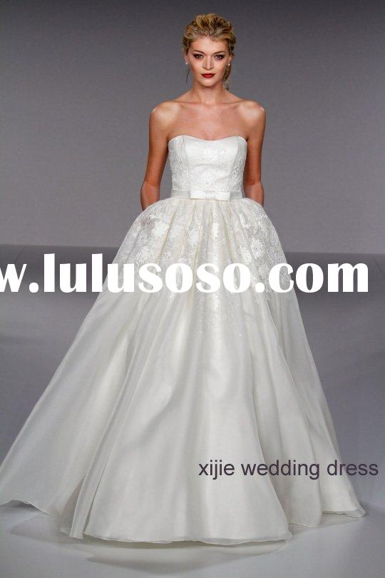 2011 modern ball gown organza wedding dress