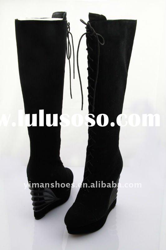 2012-2013 the newest wedge & platform high heel ladies knee boots