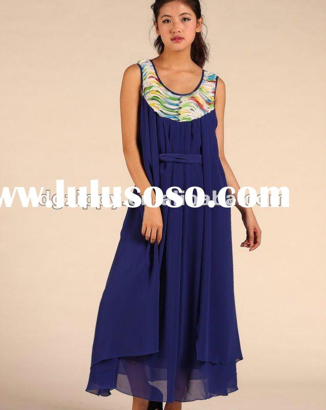 2012 Europe newest loose chiffon long dress /vest skirt/dress