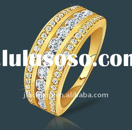 2012 Fashion Women's Anniversary Ring In sterling silver with 18 carat gold plated