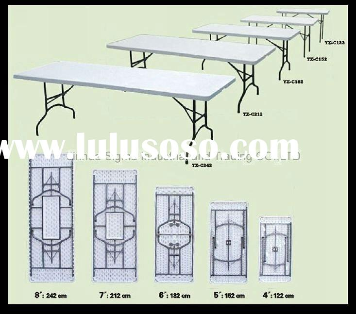 2012 Hot sale 7 Foot blow molding plastic table for outdoor furniture