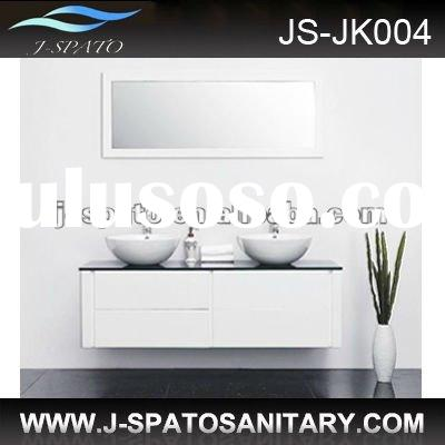 2012 double basin solid wood cabinet furniture
