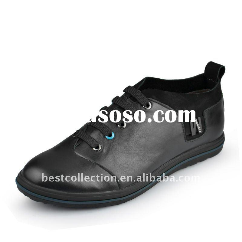 2012 newly designed men's casual shoe with leather