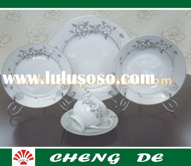 30pcs Colored glass dinnerware sets