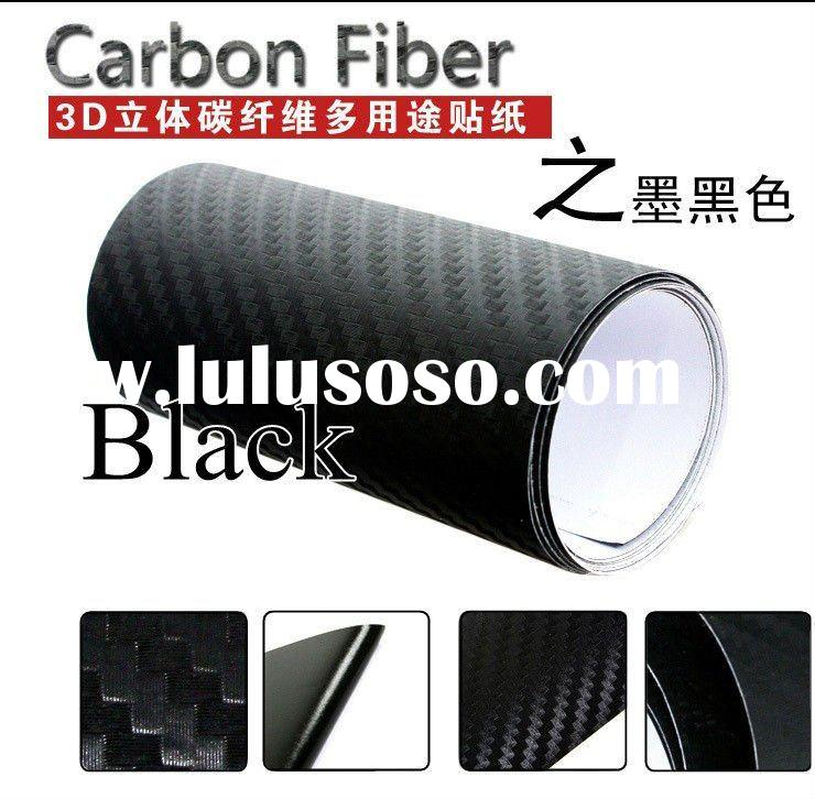 3D shiny black carbon fiber auto wrap vinyl