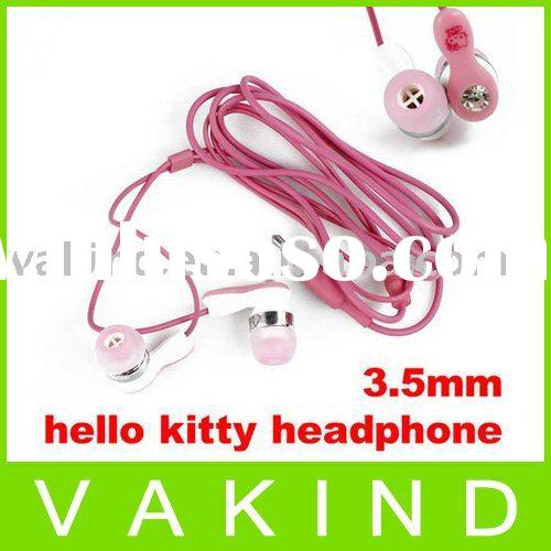 3.5mm hello kitty stereo in ear headphone earphone mp3