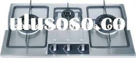 3 Burner Stainless Steel Built-in Gas Stove