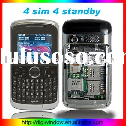 4 SIM 4 Standby Quadband TV Cell Phone +JAVA+2 Camera+FM (DW-P-160)