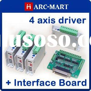 4 axis CNC Router/Milling kit Two-Phase Stepper Motor Driver + 6 axis CNC interface board #UC119