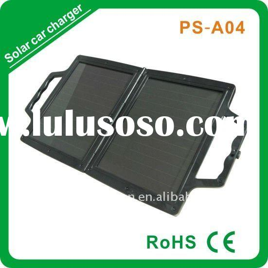 4w amorphous foldable solar car battery trickle charger 12v
