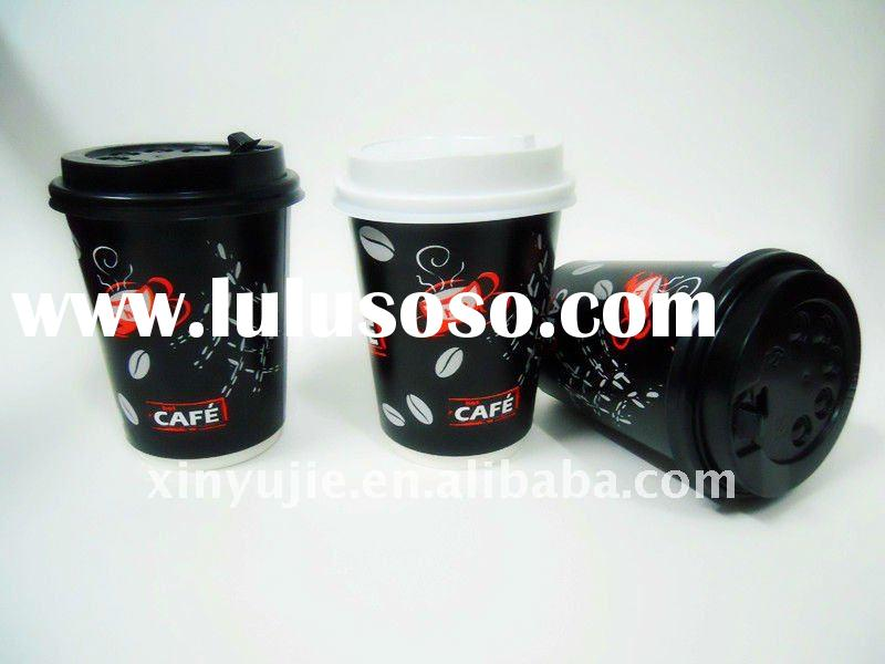 8oz/12oz/16oz/20oz/22oz double wall disposable paper coffee cups with lids