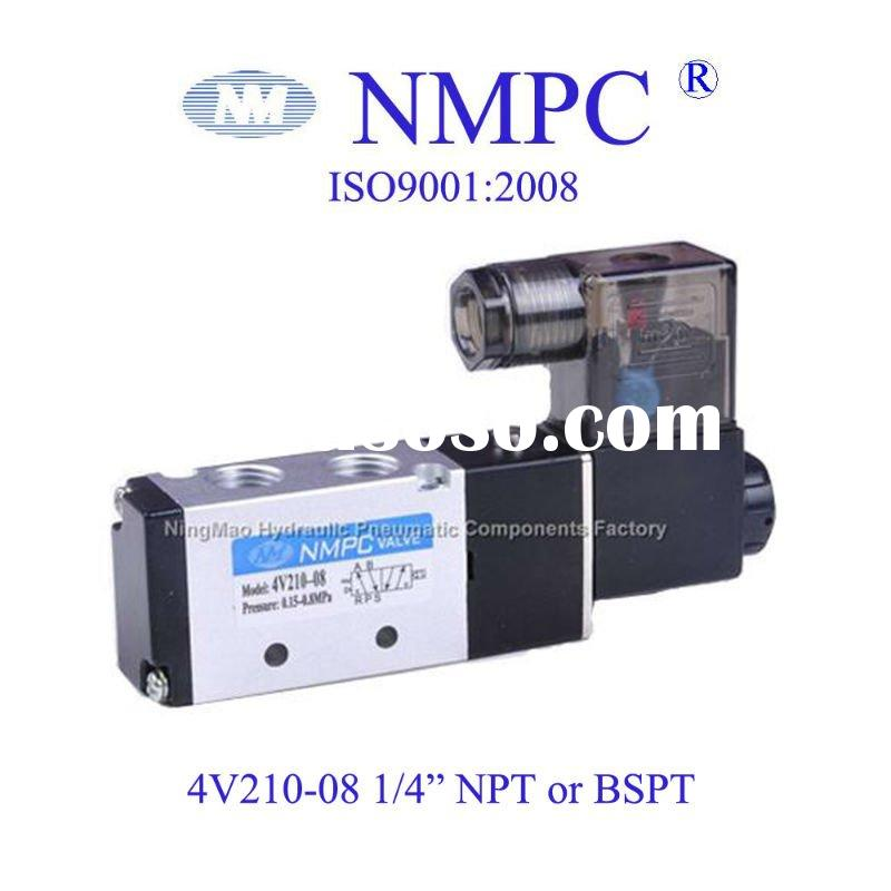 Air Solenoid Valve /4V210-08 /5 way/ air,gas/ 12V,24V DC or 110V,220V AC