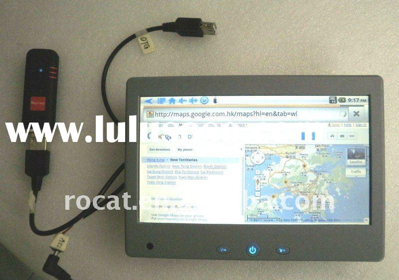 Android2.2 7inch taxi LCD TV, Taxi LCD advertising player with volume buttons/touch screen
