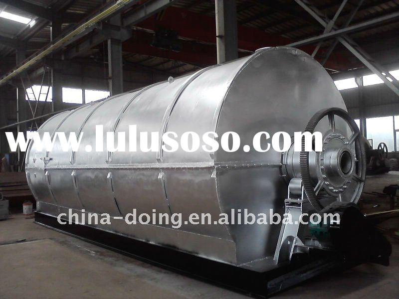 Aquiring CE certificate 8 ton Q345R steel used truck tires/rubber/plastic recycling machine for oil
