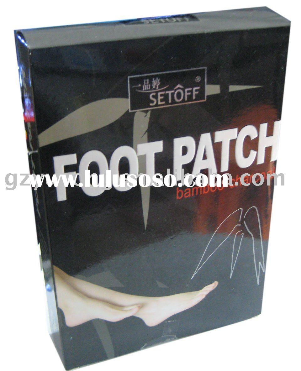 Bamboo-charcol detox foot patch
