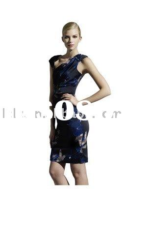 Beautiful designer new party dress Cap sleeve New style DJ1002